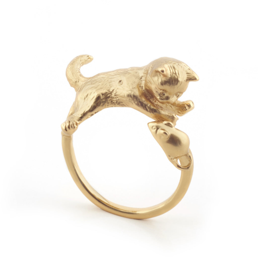 Kitten and Mouse Ring