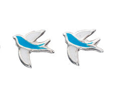 Bird Enamel Earrings