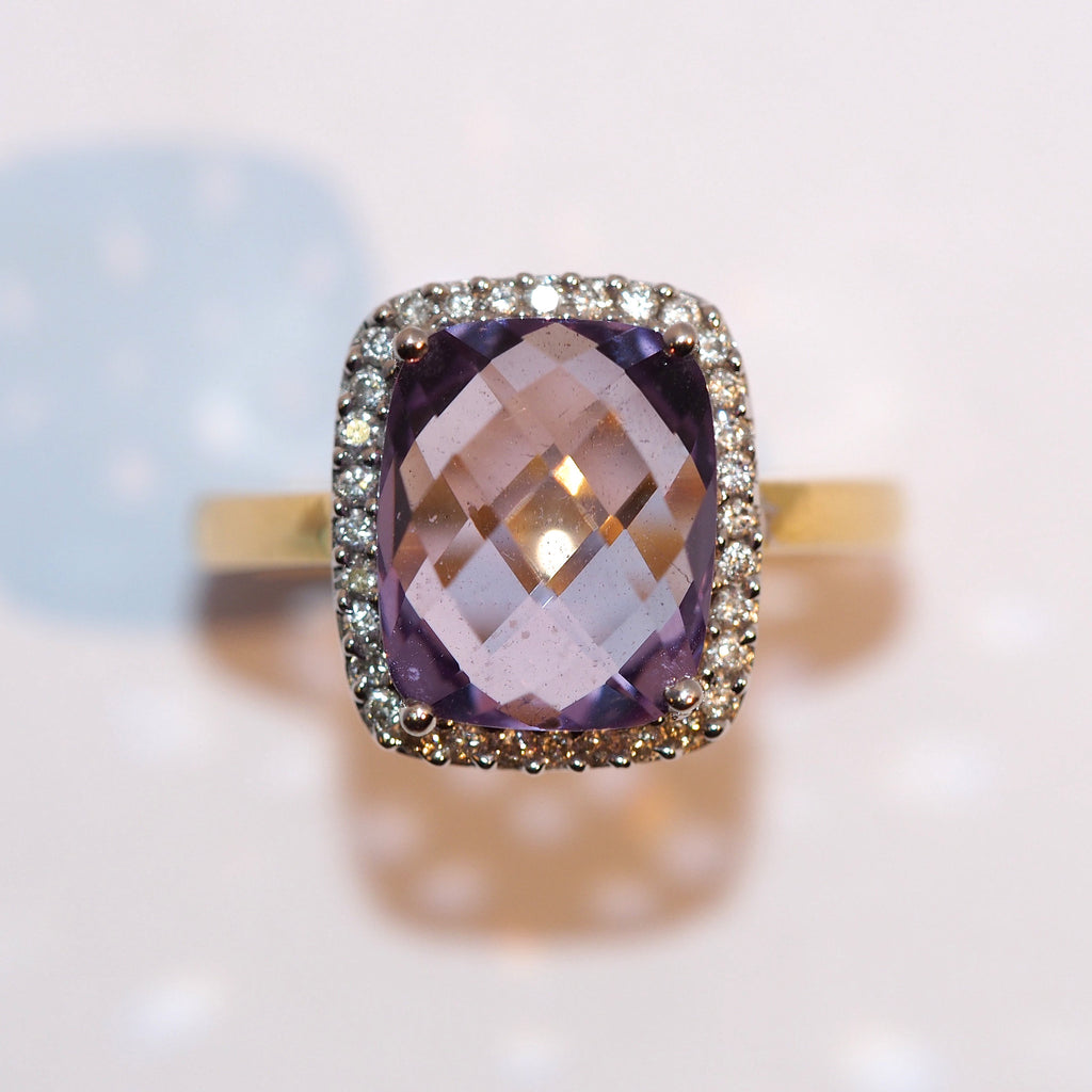 Large Amethyst and Diamond Cluster - Hallmark Goldsmiths - 1