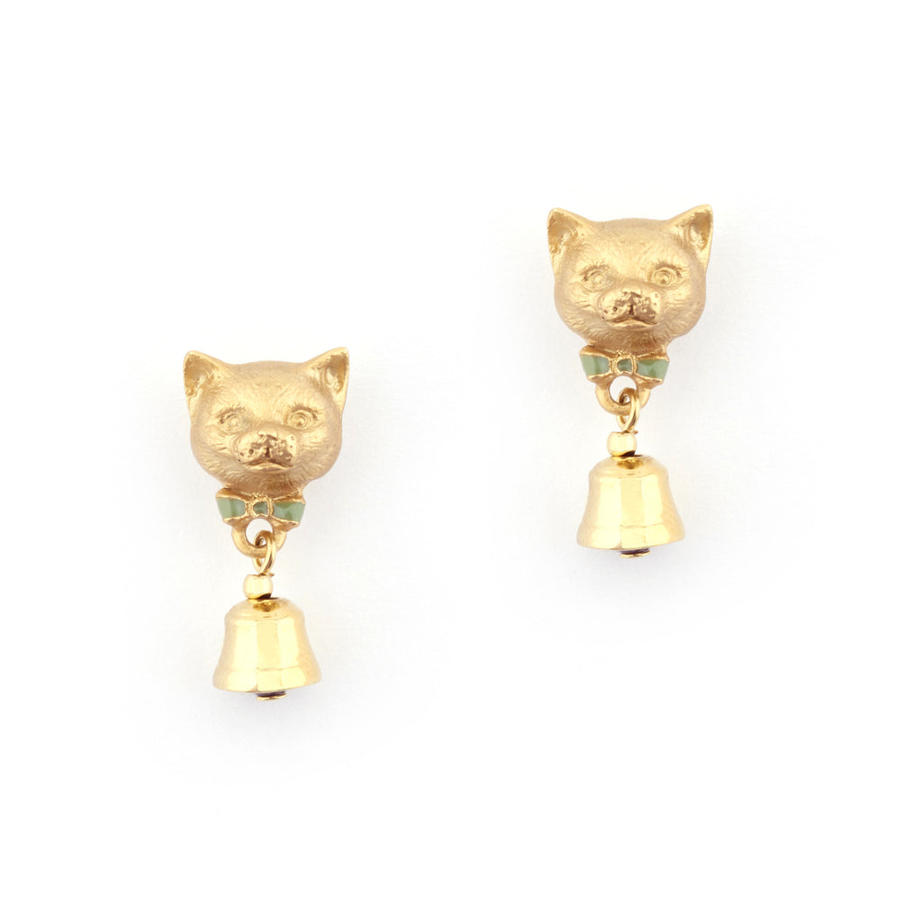 Kitten Bell Stud Earrings