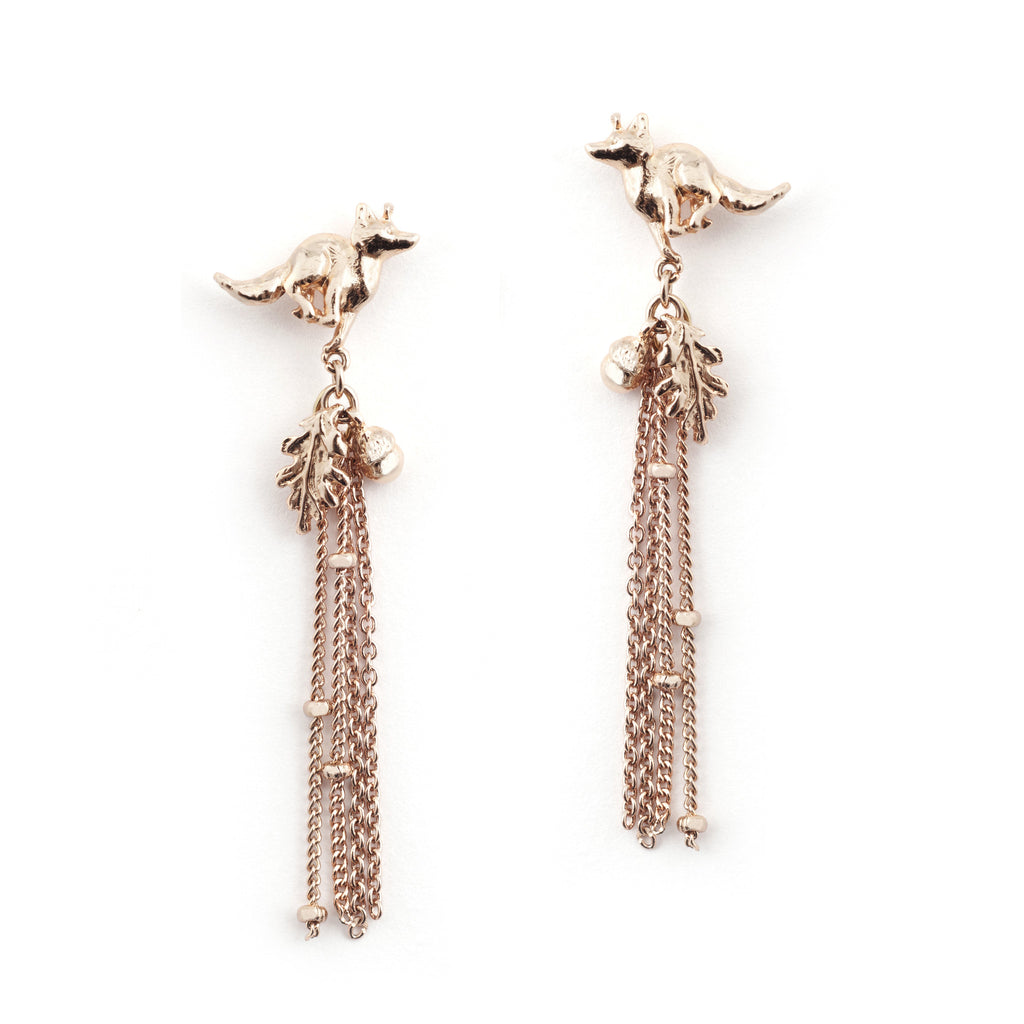 Fox Tassle Earring