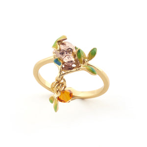 Orangutan Peeking Ring - Hallmark Goldsmiths