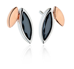 Double Marquise Shape Stud Earrings