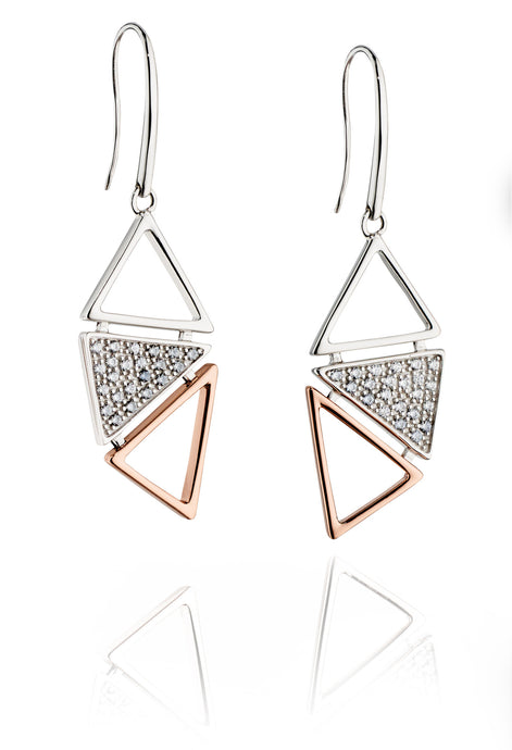 ANOTHER DIMENSION - Silver Geometric Earrings