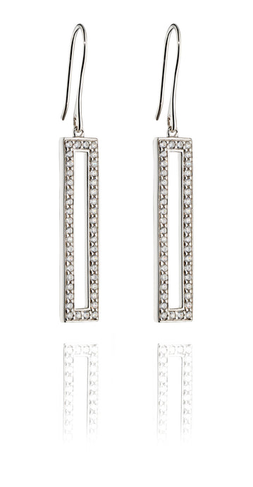 ANOTHER DIMENSION - Rectangular Drop Earrings