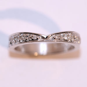 Diamond Set Fitted Wedding Band