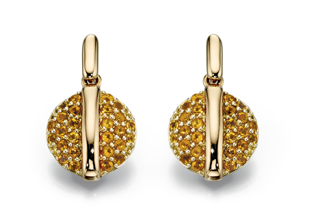 ECLIPSE - Citrine Earrings - Hallmark Goldsmiths