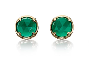 LUMINARY - Green Onyx Earrings - Hallmark Goldsmiths