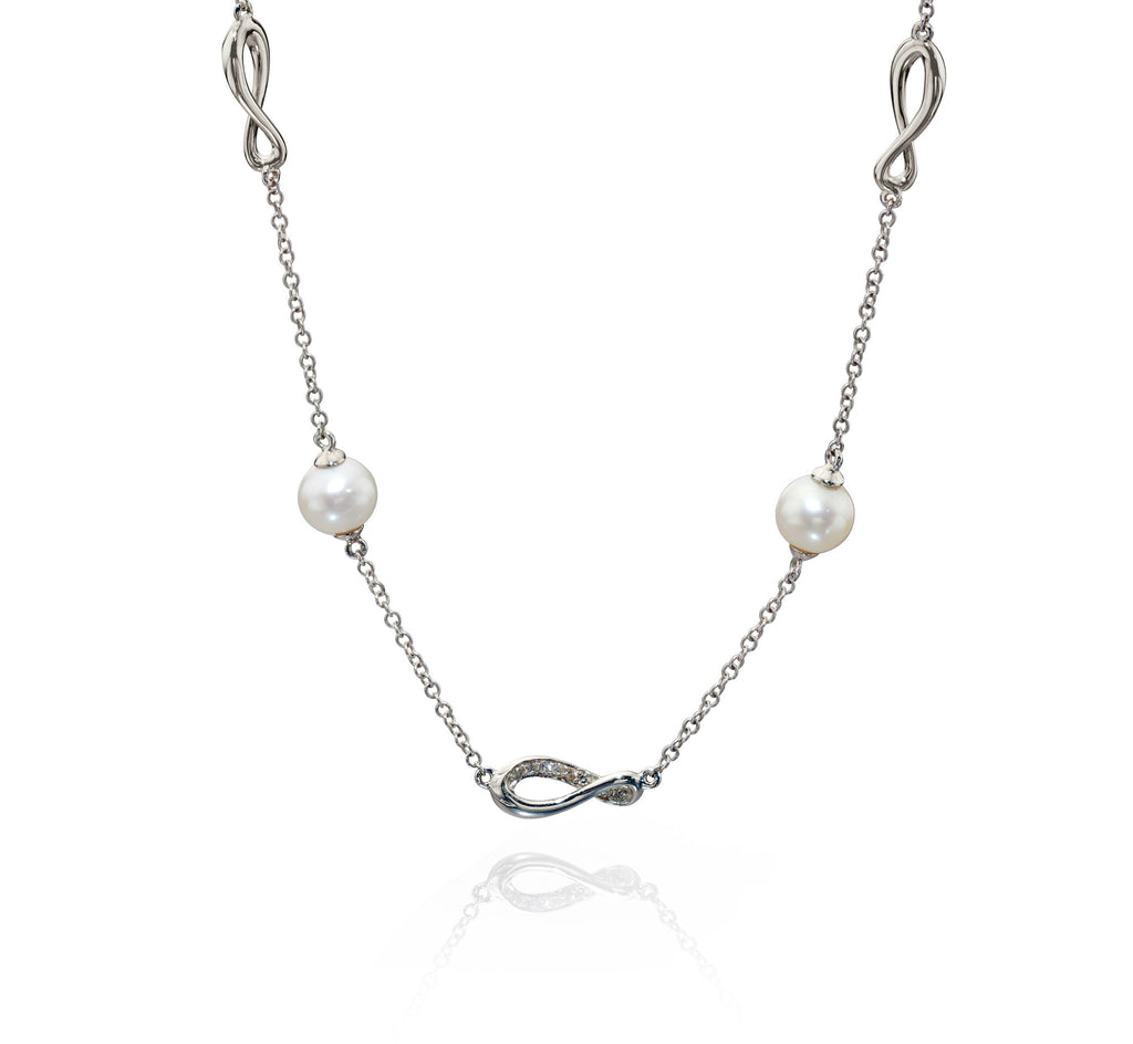 EMBRACE - Pearl and Diamond Necklace - Hallmark Goldsmiths