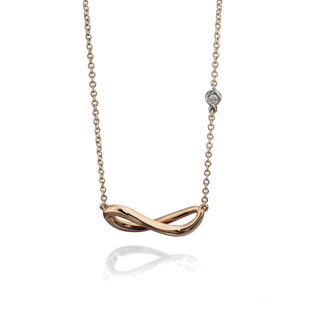 EMBRACE - Rose Gold Necklace - Hallmark Goldsmiths