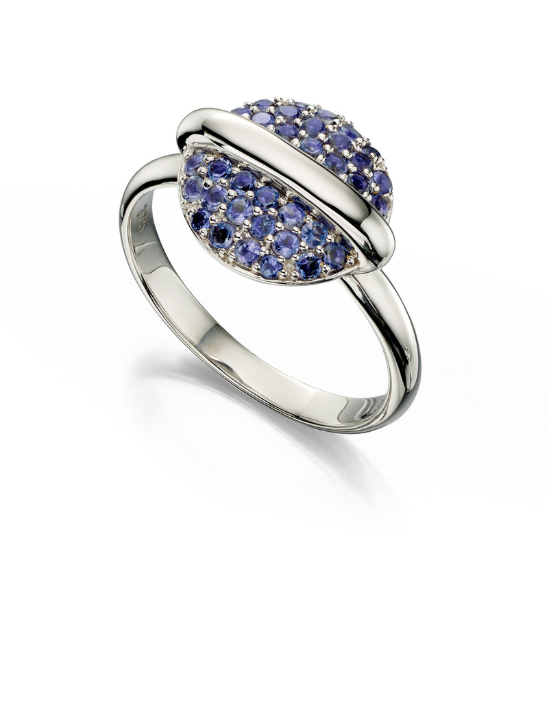 ECLIPSE - Iolite Ring - Hallmark Goldsmiths