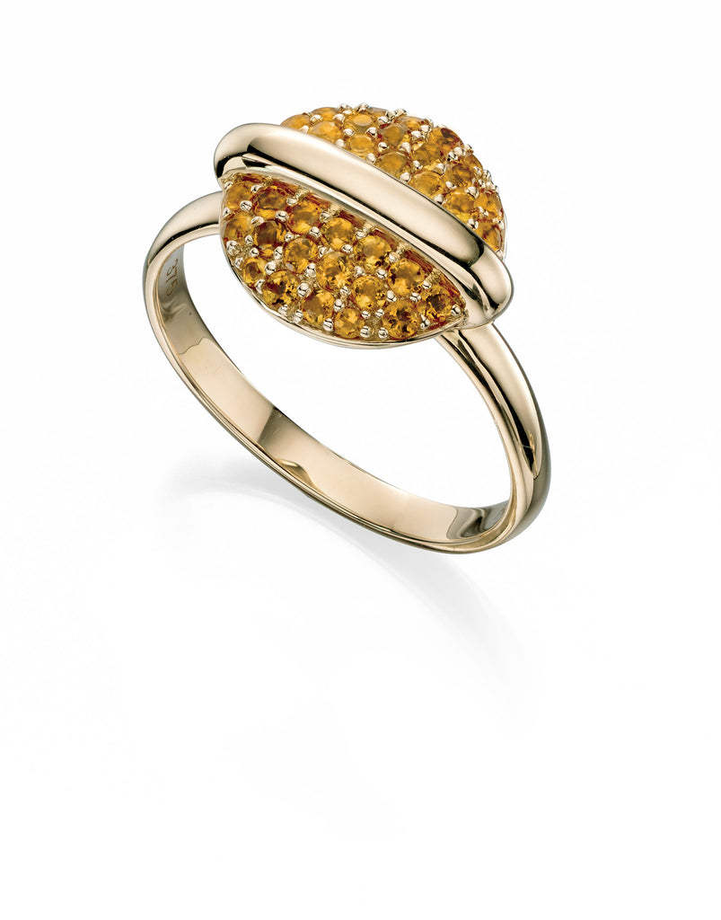 ECLIPSE - Citrine Dress Ring - Hallmark Goldsmiths