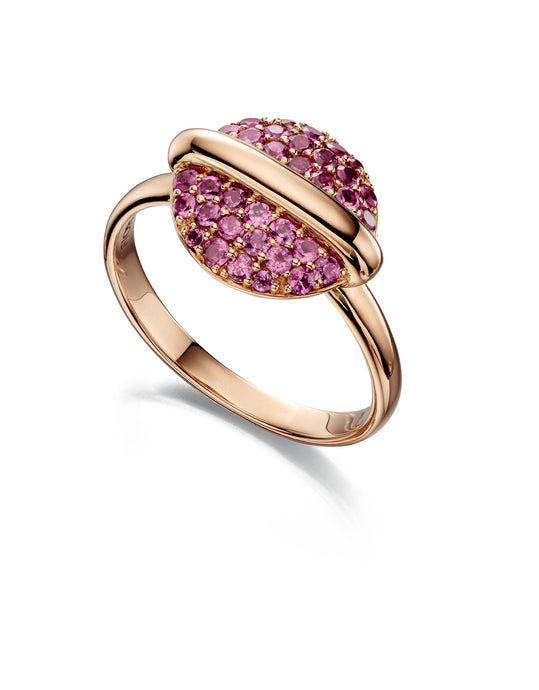 ECLIPSE - Rhodolite Garnet Ring - Hallmark Goldsmiths