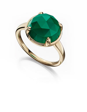 LUMINARY - Green Onyx Ring - Hallmark Goldsmiths