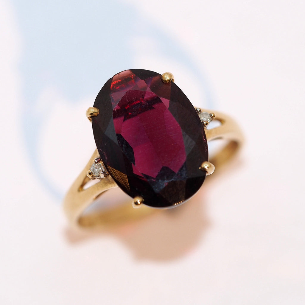 Garnet and Diamond Ring - Hallmark Goldsmiths