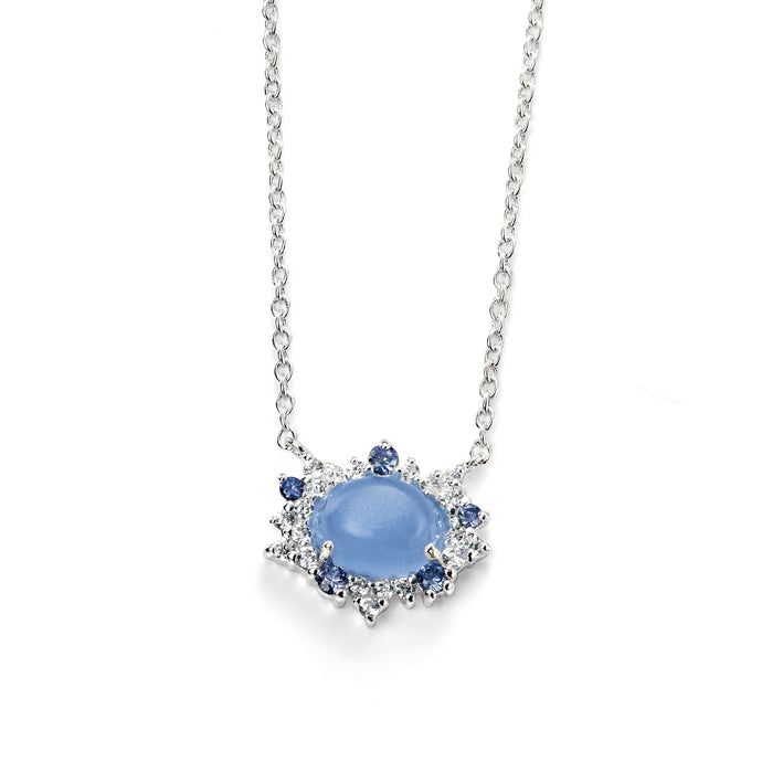 Blue Cats Eye Necklace