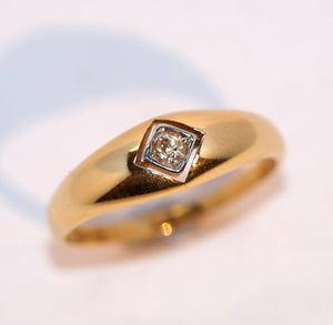 Tapered Diamond Set Ring - Hallmark Goldsmiths