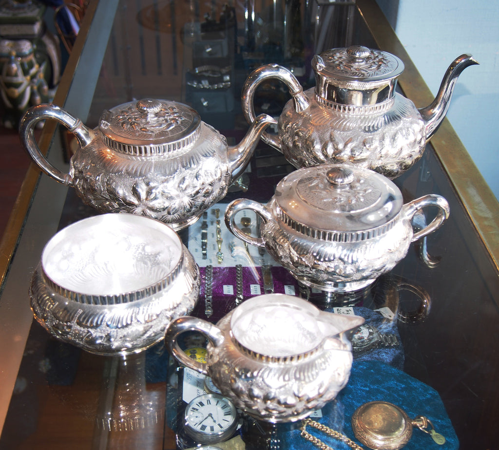 Five Piece Silver Plated Tea and Coffee Set