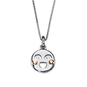 Smiley Pendant - Rose Gold Cheeks
