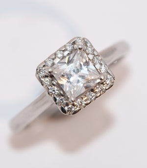 Princess Cut Diamond Cluster - Hallmark Goldsmiths