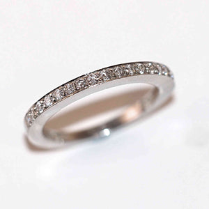 Half Eternity Ring in Platinum - Hallmark Goldsmiths