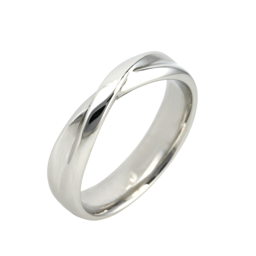 Shaped Twist Fitted Wedding Ring - Hallmark Goldsmiths - 2