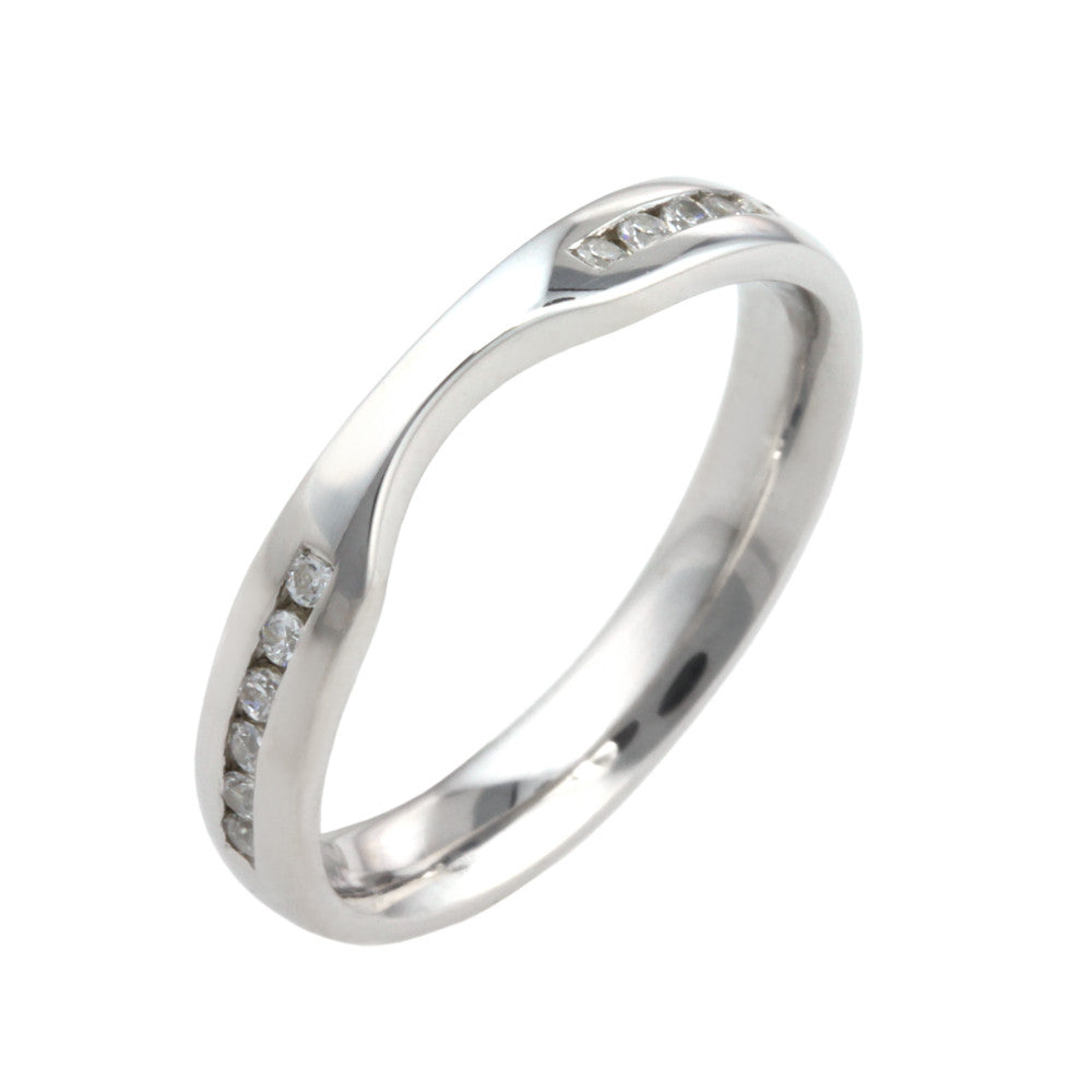 Diamond Set Shaped Wedding Band - Hallmark Goldsmiths - 2