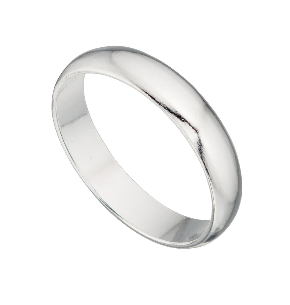 Court 4MM - Super Light Weight Silver Wedding Band - Hallmark Goldsmiths