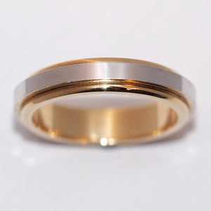 Two Colour Heavy Weight Wedding Band