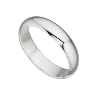 5MM FLAT - Light Weight Silver Wedding Band - Hallmark Goldsmiths