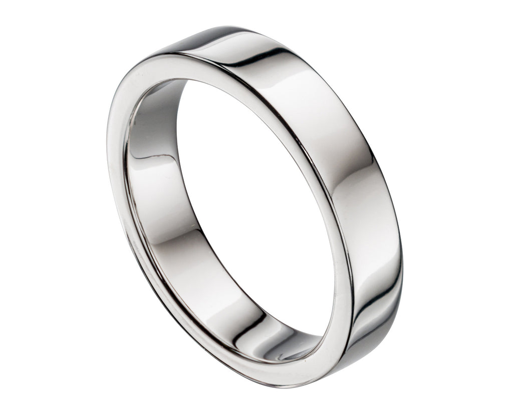 Flat 5MM - Silver Wedding Band - Hallmark Goldsmiths