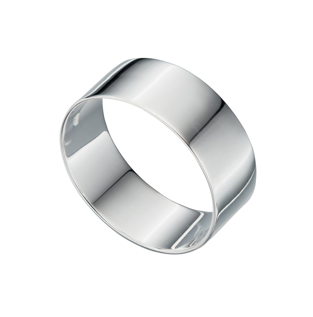 FLAT - Light Weight Silver Wedding Band - Hallmark Goldsmiths