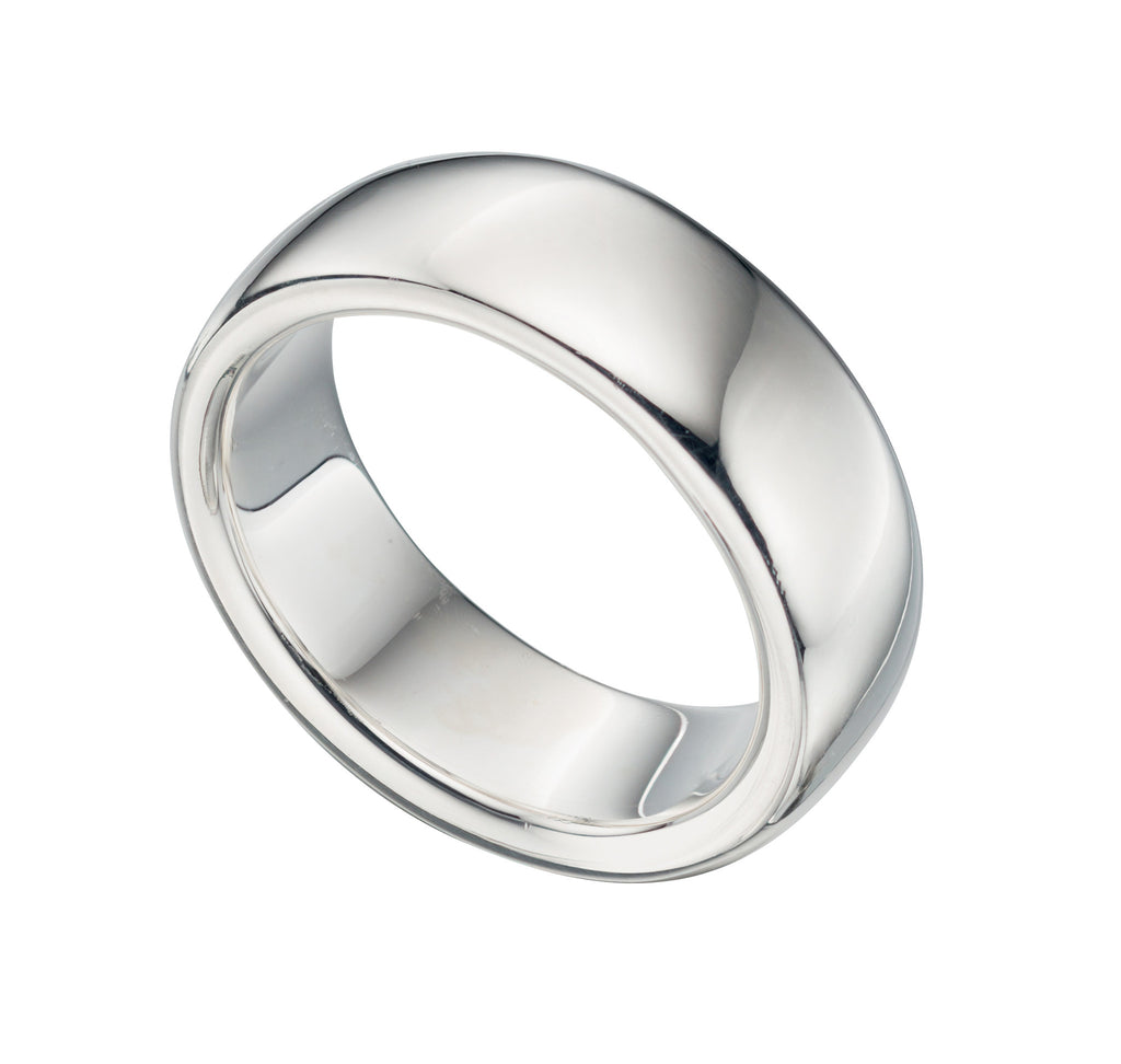 Bombe Court 7mm - Silver Wedding Band - Hallmark Goldsmiths