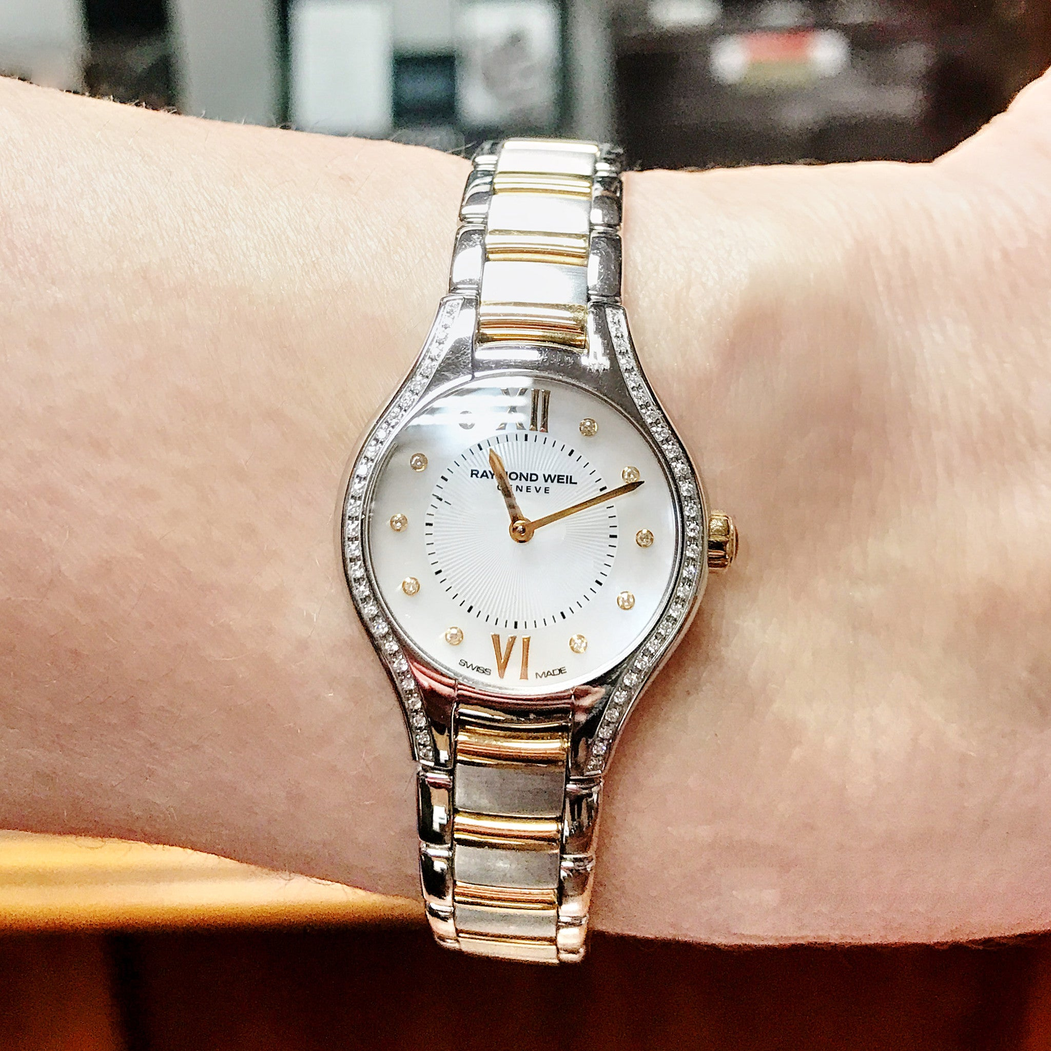 Ladies Stainless Steel Diamond Set Raymond Weil Watch
