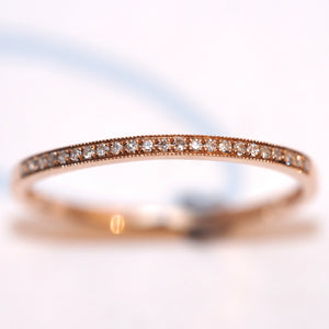 Rose Gold Diamond Set Half Eternity Ring - Hallmark Goldsmiths - 1
