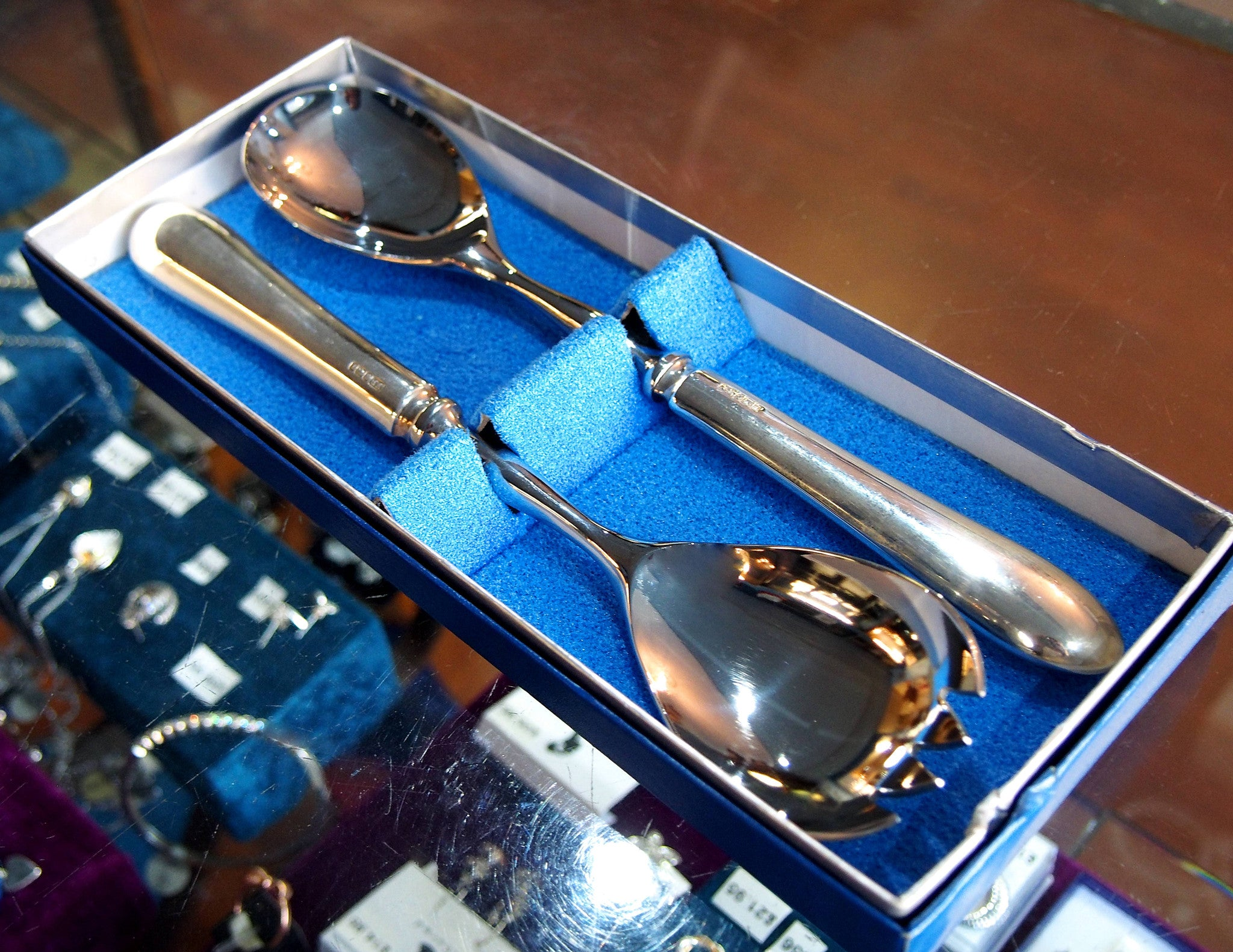 Set of Sheffield Silver Salad Servers