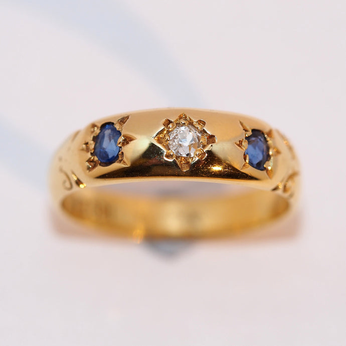 Vintage Sapphire and Diamond Ring - Hallmark Goldsmiths