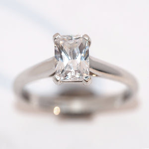 Emerald Cut Diamond Solitaire - Hallmark Goldsmiths