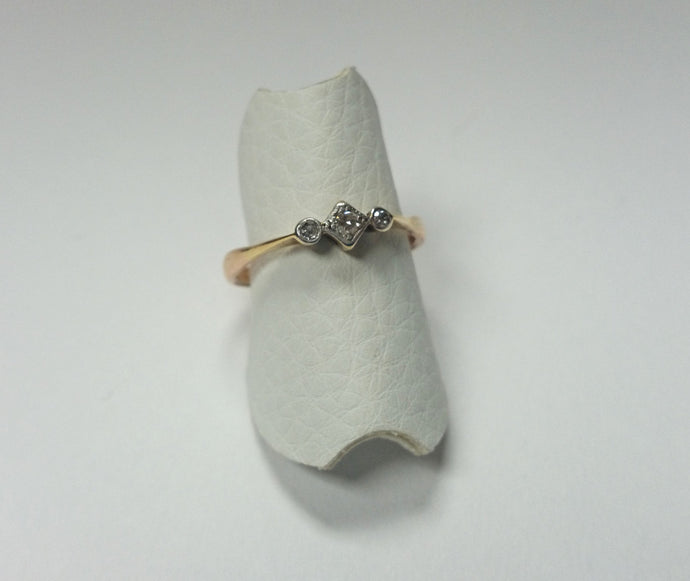 Small Three Stone Dress Ring - Hallmark Goldsmiths