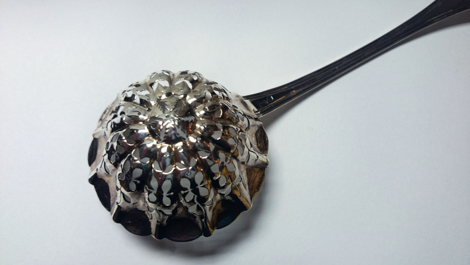 Vintage Silver French Fruit Ladle