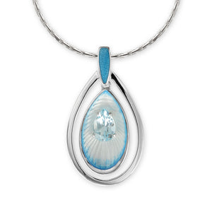 Teardrop in Blue Hand Enamel