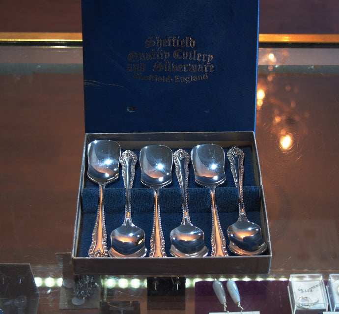 Set of Six Silver Plated Sugar Spoons