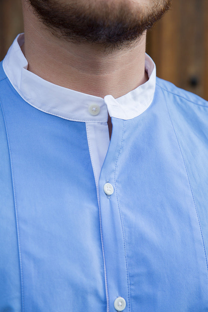Fernie - Men's Luxury Cotton Grandad Collar Shirt
