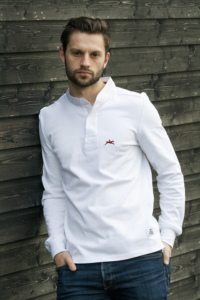 Limited Edition Mens rugby shirt. Made in Great Britain, 100% Cotton. Image 1