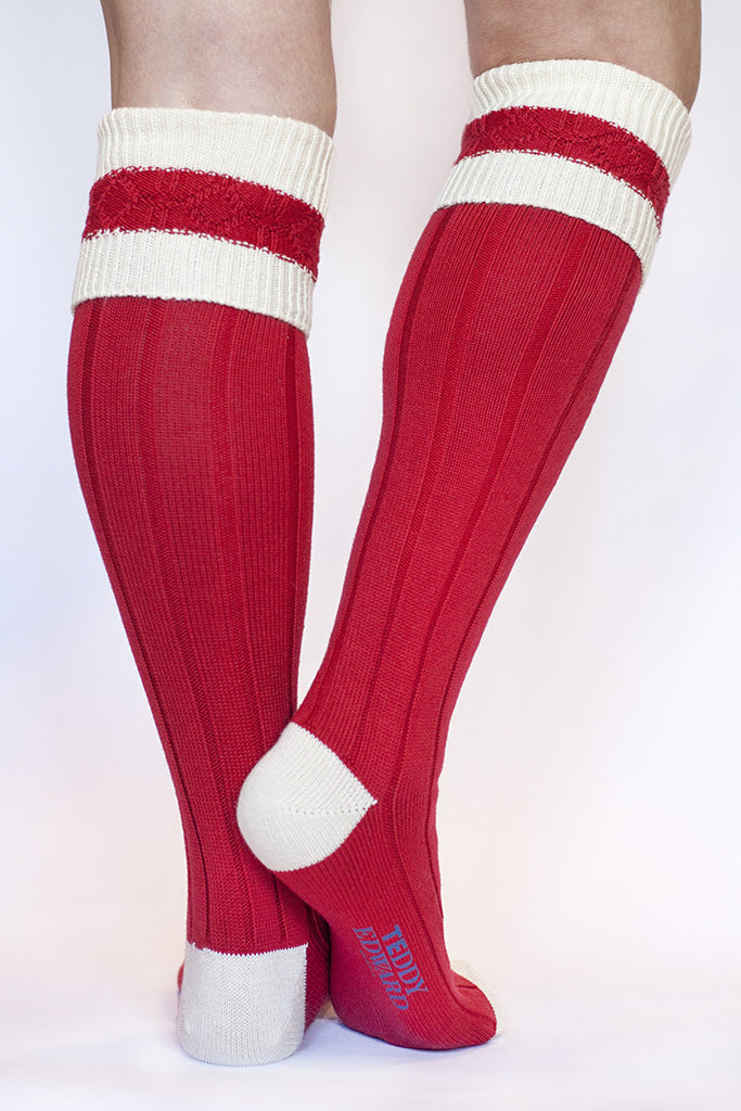 Long cotton Sock. Made in Great Britain. Image 3
