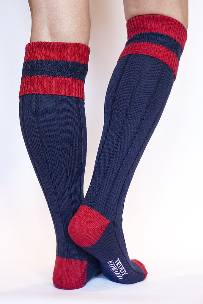 Long Cotton Sock. Made in Great Britain. Image 1