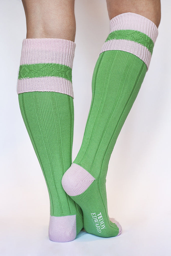Long Cotton Sock. Made in Great Britain. Image 2