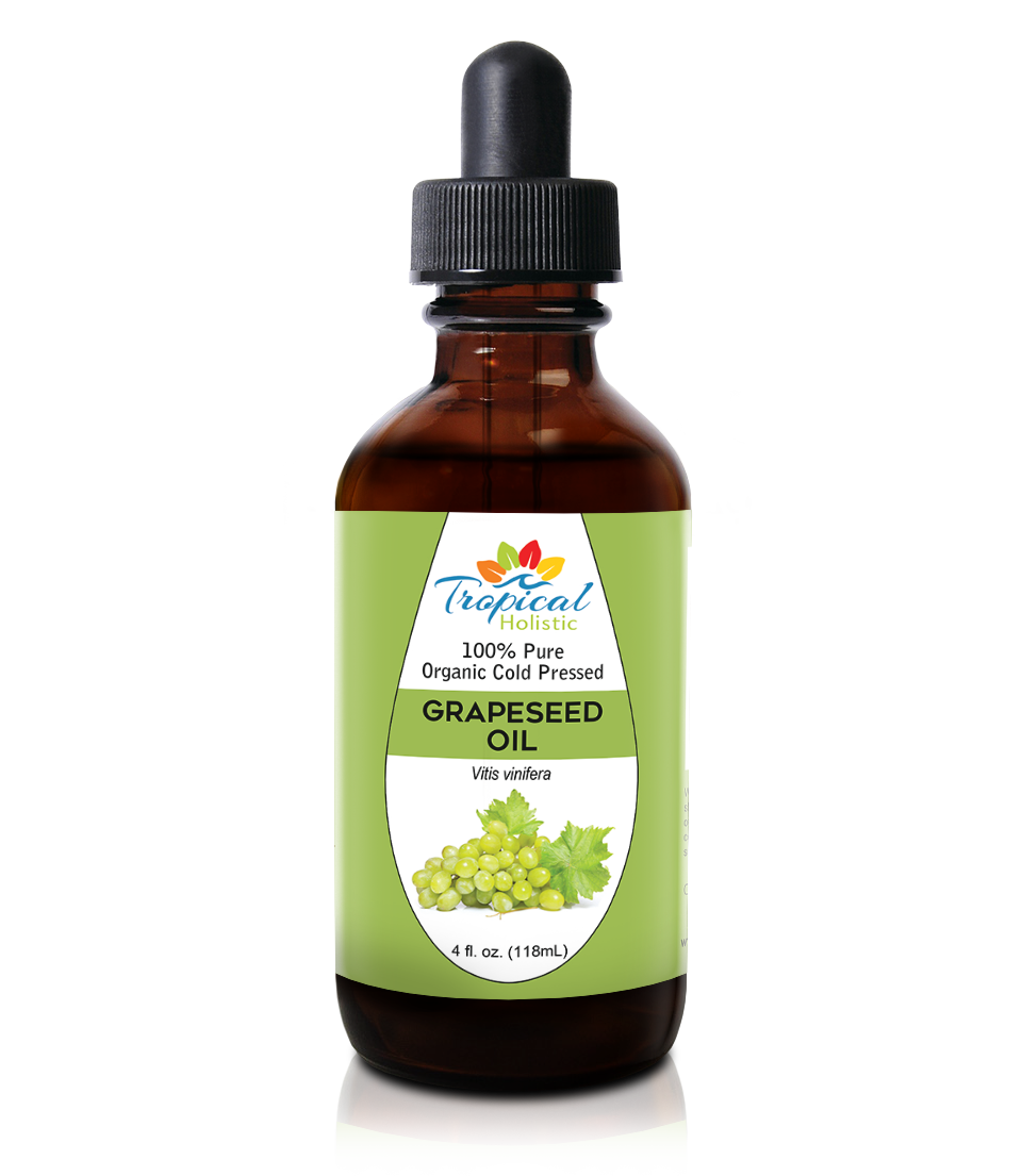 100% Pure Unrefined Grapeseed Oil 4 oz - Cold Pressed & Unscented - Tropical-Holistic