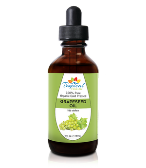 100% Pure Unrefined Grapeseed Oil 4 oz - Cold Pressed & Unscented