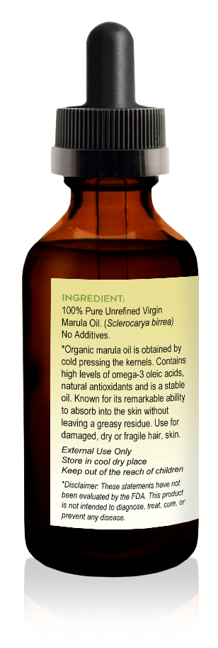 Virgin Organic Marula Oil 2oz - Tropical-Holistic